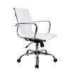 <strong>Winport Industries</strong> Mid-Back Leather Executive Swivel Office Chair