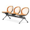 <strong>Net Series Mesh Three Chair Beam Seating</strong> by OFM