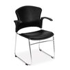 OFM Multi Use Vinyl Seat and Back Stacker Chair with Removeable Arms (Set of 4)