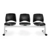 <strong>Stars and Moon Three Chair Beam Seating</strong> by OFM