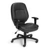 OFM Leatherette Back Ergonomic Confrence Chair with Arms
