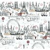 York Wallcoverings Black and White Novelty Euro Scenic Wallpaper
