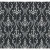 <strong>York Wallcoverings</strong> Chandelier Damask Wallpaper
