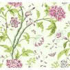 York Wallcoverings Carey Lind Vibe Teahouse Floral Wallpaper