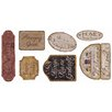 York Wallcoverings Mural Portfolio II Country Signs On Weathered Wood Wall Decal