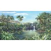 <strong>York Wallcoverings</strong> Portfolio II Tropical Lagoon with Palm Trees Wall Mural