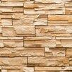 York Wallcoverings Modern Rustic Travertine Trompe L'oeil Wallpaper