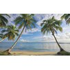<strong>York Wallcoverings</strong> Portfolio II Beach View with Palm Trees Wall Mural