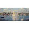 <strong>York Wallcoverings</strong> Mural Portfolio II Harbor View Scenic Border Wallpaper