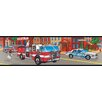 <strong>York Wallcoverings</strong> Mural Portfolio II Fire Truck Wallpaper Border
