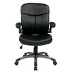 <strong>Office Star Products</strong> Mid Back Eco Leather Executive Chair with Adjustable Padded Flip Arms