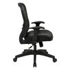 "<strong>Space 28"" Back Chair with Eco Leather Seat and Flip Arms</strong> by Office Star Products"