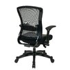 <strong>Space Seating Eco Leather Executive Back Chair with Flip Arms</strong> by Office Star Products