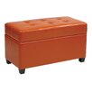 Office Star Products OSP Designs Vinyl Storage Ottoman