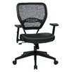 "Office Star Products Space Seating 18.5"" Professional Breathable Mesh Back Manager's Chair with Eco Leather Seat"