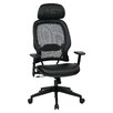 "Office Star Products Space Seating 32.75""AirGrid Back Manager's Chair with Eco Leather Seat and Adjustable Headrest"
