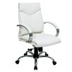 Office Star Products Deluxe Mid-Back Executive Leather Office Chair with Arms