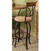 "Pewter 29"" Swivel Bar Stool with Cushion"