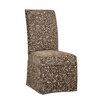 Powell Furniture Classic Seating Leaves Parson Chair Skirted Slipcover