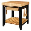 Powell Furniture Color Story Kitchen Island with Butcher Block Top