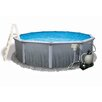 "Swim Time Round 52"" Deep 7"" Top Rail Martinique Metal Wall Swimming Pool Package"