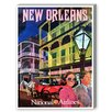 Americanflat New Orleans National Airways Vintage Advertisement on Canvas