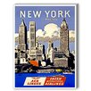 Americanflat New York Aer Lingus Vintage Advertisement on Canvas