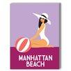 Americanflat Manhattan Beach Graphic Art on Canvas