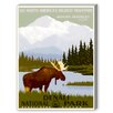Americanflat Mount Mc Kinley Vintage Advertisement on Canvas