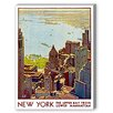 Americanflat New York Upper Bay Vintage Advertisement on Canvas