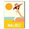 Americanflat Malibu Graphic Art on Canvas