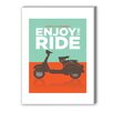 Americanflat Enjoy the Ride Vespa Graphic Art on Canvas