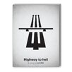 Americanflat Highway to Hell Graphic Art on Canvas