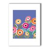 Americanflat Floripop Gallery Wrapped Canvas in Blue