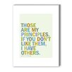 Americanflat Groucho Principles Textual Art on Canvas