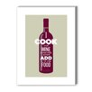 Americanflat I Cook with Wine Graphic Art on Canvas