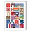 Americanflat Paris Graphic Art on Canvas