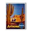 Americanflat Arizona Santa Fe Vintage Advertisement Graphic Art
