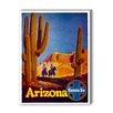 Americanflat Arizona Santa Fe Vintage Advertisement on Canvas