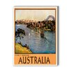 Americanflat Australia Sydney Harbor Vintage Advertisement Graphic Art