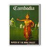 Americanflat Cambodia Vintage Advertisement on Canvas