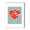 Americanflat Birds One Love Graphic Art Graphic Art