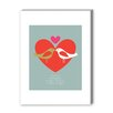 <strong>Americanflat</strong> Birds One Love Graphic Art on Canvas
