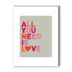 Americanflat All You Need Is Love and Chocolate Textual Art on Canvas