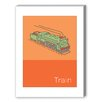 Americanflat Storybook Train Graphic Art on Canvas