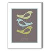 Americanflat Three Little Birds Graphic Art in Brown