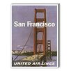 Americanflat San Francisco United Airlines II Vintage advertisements on Canvas