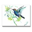 Americanflat Hummingbird One of a Kind Painting Print on Canvas