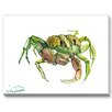 Americanflat Crab 2 Painting Print on Canvas