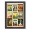Americanflat Chicago Multi 2 Framed Vintage Advertisement